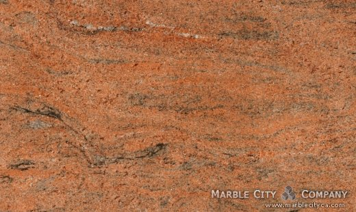 Multicolor Red - Granite Countertops San Jose, California. Close up view — Close Up View