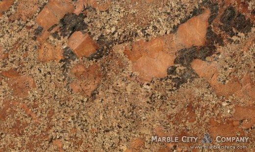 Juparana Bordeaux - Granite Countertops Bay Area, California. Close up view — Close Up View