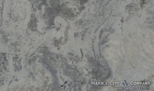 Blue Sky - Marble Countertops San Francisco, California. Close up view — Close Up View