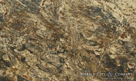 Harricane Blue - Granite Countertops Bay Area, California. Close up view — Close Up View