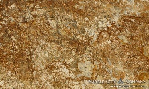 Golden Sun - Granite Countertops Bay Area, California. Close up view — Close Up View