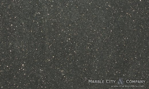 Black Galaxy - Granite Countertops San Jose, California. Close up view — Close Up View
