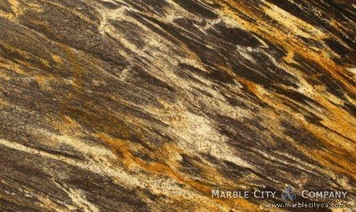 Harricane Gold - Granite Countertops Bay Area, California. Close up view — Close Up View