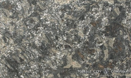 Metallic Brashed - Granite Countertops Bay Area, California. Close up view — Close Up View