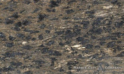 Black Forest Gold - Granite Countertops San Francisco, California. Close up view — Close Up View