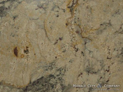 Crema Romano - Granite Countertops San Jose, California. Macro view — Macro View