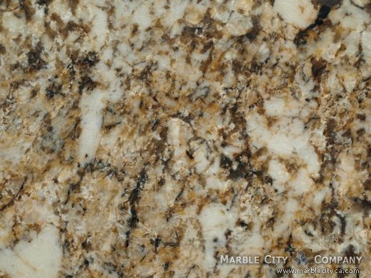 Honey - Granite Countertops in Bay Area, California. Macro view — Macro View