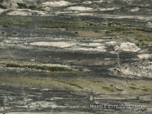 Verde Fashion - Granite Countertops Bay Area, California. Macro view — Macro View