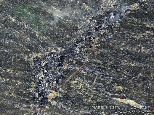 Blue Brazil - Granite Countertops San Jose, California. Macro view — Macro View