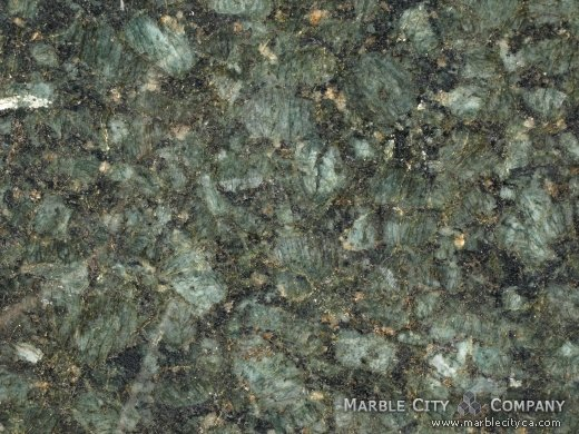 Pickock Green - Granite Countertops San Francisco, California. Macro view — Macro View