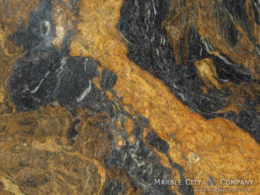 Capuccino - Granite Countertops Bay Area, California. Macro view — Macro View