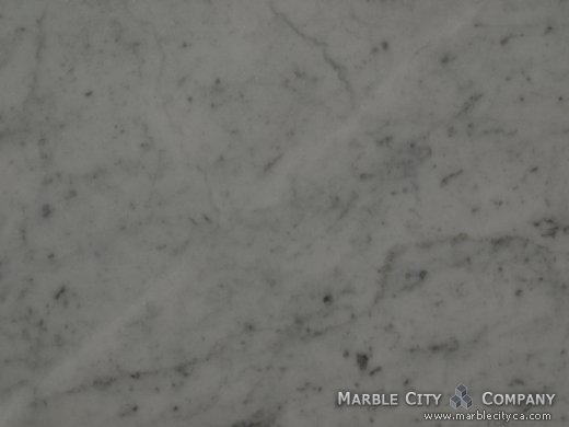 Bianco Carrara Honed - Marble Countertops San Francisco, California. Macro view — Macro View