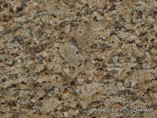 Santa Cecilia - Granite Countertops San Jose, California. Macro view — Macro View