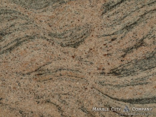 Juparana Colombo - Granite Countertops San Jose, California. Macro view — Macro View