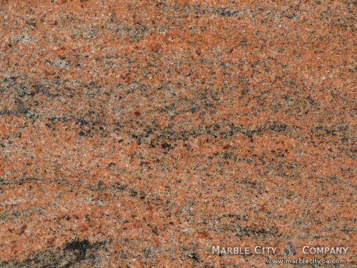 Multicolor Red - Granite Countertops San Jose, California. Macro view — Macro View