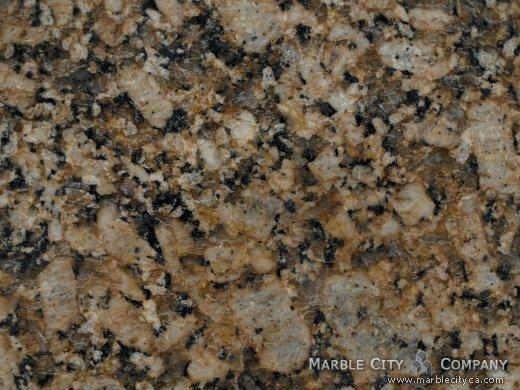 Giallo Fiorito - Granite Countertops Bay Area, California. Macro view — Macro View