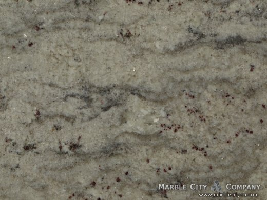 Bianco Romano - Granite Countertops San Jose, California. Macro view — Macro View