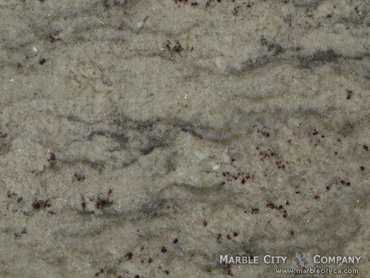 Bianco Romano - Granite Countertops San Jose, California. Macro view — Macro View
