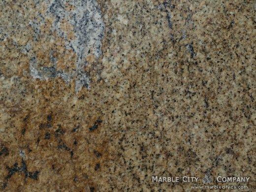 Golden Wave - Granite Countertops San Francisco, California. Macro view — Macro View