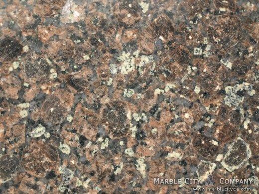 Bahia Bordeaux - Granite Countertops San Francisco, California. Macro view — Macro View