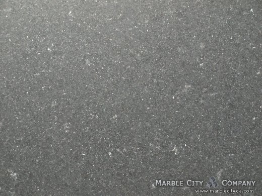 Absolute Black Honed Granite Countertops San Francisco. Macro view — Macro View