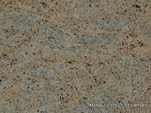 Kashmire Gold - Granite Countertops San Jose, California. Macro view — Macro View
