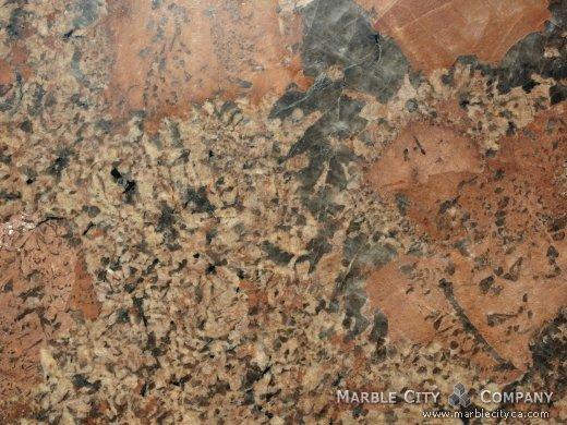Juparana Bordeaux - Granite Countertops Bay Area, California. Macro view — Macro View
