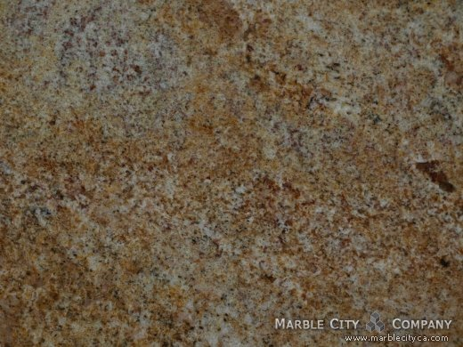 Golden Sand - Granite Countertops San Jose, California. Macro view — Macro View