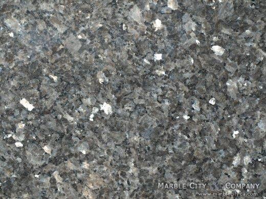 Blue Pearl - Granite Countertops San Francisco, California. Macro view — Macro View