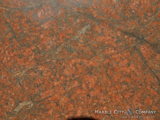Red Dragon - Granite Countertops San Jose, California. Macro view — Macro View