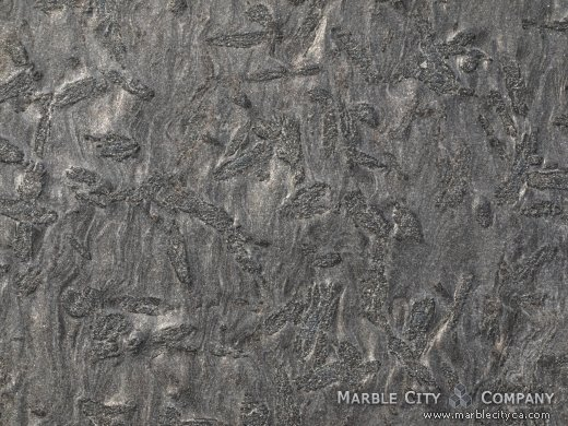 Matrix Brashed - Granite Countertops San Francisco, California. Macro view — Macro View