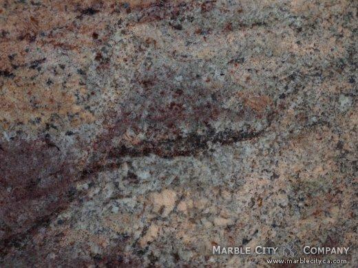 Ibere Crema Bordeaux - Granite Countertops Bay Area, California. Macro view — Macro View