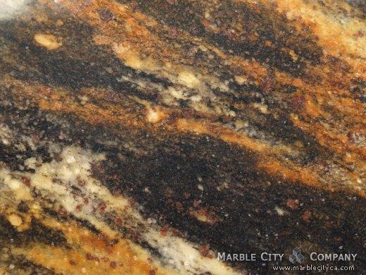 Harricane Gold - Granite Countertops Bay Area, California. Macro view — Macro View