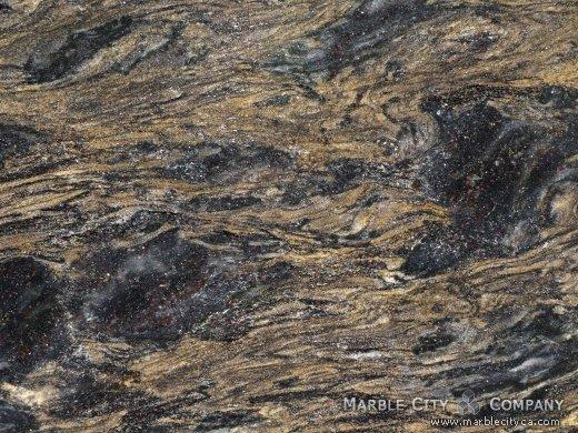 Black Forest Gold - Granite Countertops San Francisco, California. Macro view — Macro View