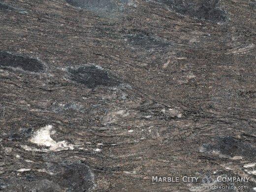 Black Forest White - Granite Countertops San Francisco, California. Macro view — Macro View