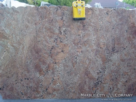 Bordeaux Fuji - Granite Countertops San Francisco, California. Slab view — Slab View