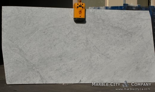 Bianco Carrara Honed - Marble Countertops San Francisco, California. Slab view — Slab View