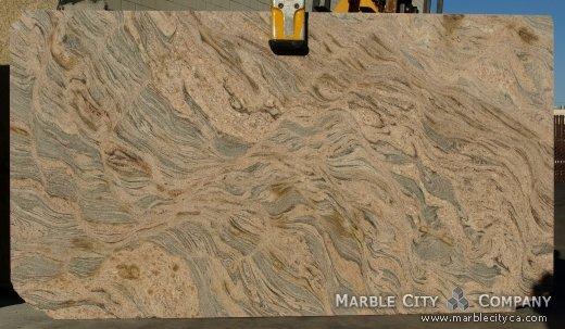 Juparana Colombo - Granite Countertops San Jose, California. Slab view — Slab View
