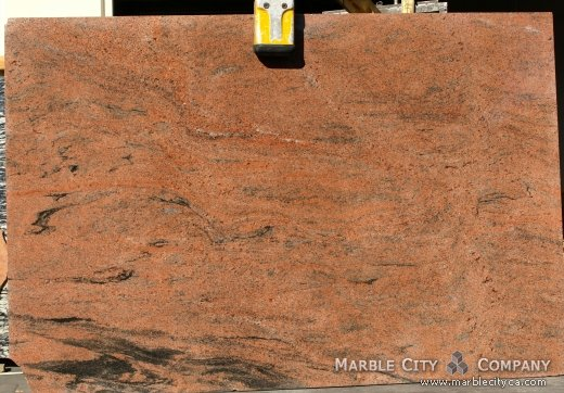 Multicolor Red - Granite Countertops San Jose, California. Slab view — Slab View