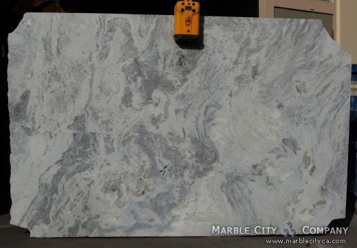 Blue Sky - Marble Countertops San Francisco, California. Slab view — Slab View