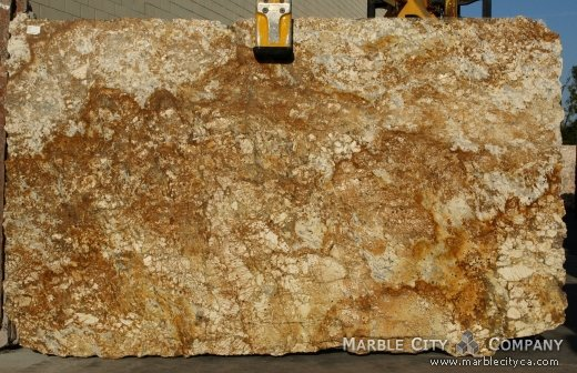 Golden Sun - Granite Countertops Bay Area, California. Slab view — Slab View