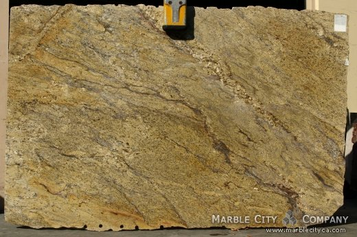 Yellow Moon Granite Slab : Yellow river granite countertops in the bay area at