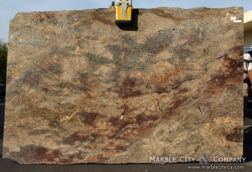Ibere Crema Bordeaux - Granite Countertops Bay Area, California. Slab view — Slab View
