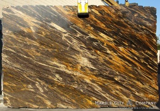 Harricane Gold - Granite Countertops Bay Area, California. Slab view — Slab View