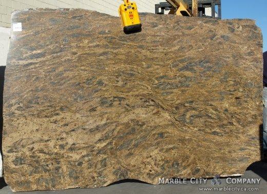 Harricane Blue Gold - granite countertops bay area, California. Slab view — Slab View