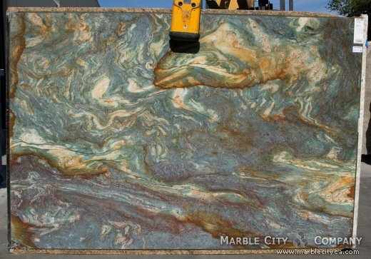 Luise Blue - Granite Countertops Bay Area, California. Slab view — Slab View