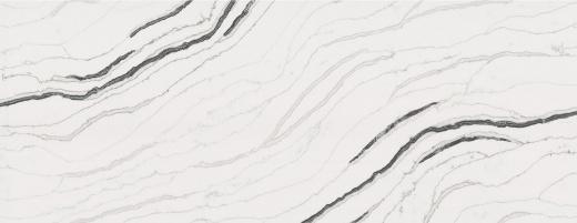 Bianco Molasa - Vadara Quartz Bay Area. Slab View — Slab View